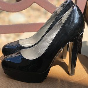 Black Patent Leather High Heels